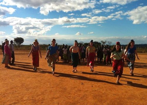 Relay races at Emanzinyeni