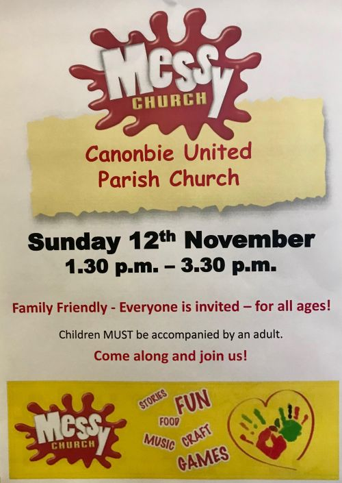 messy church 12 november 17